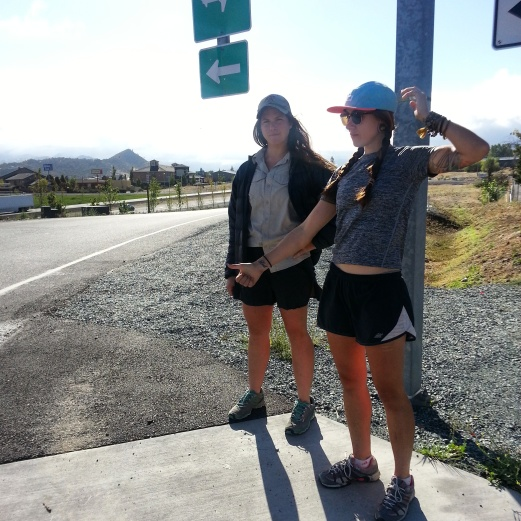 Chance and Jess, hitching out of Ashland