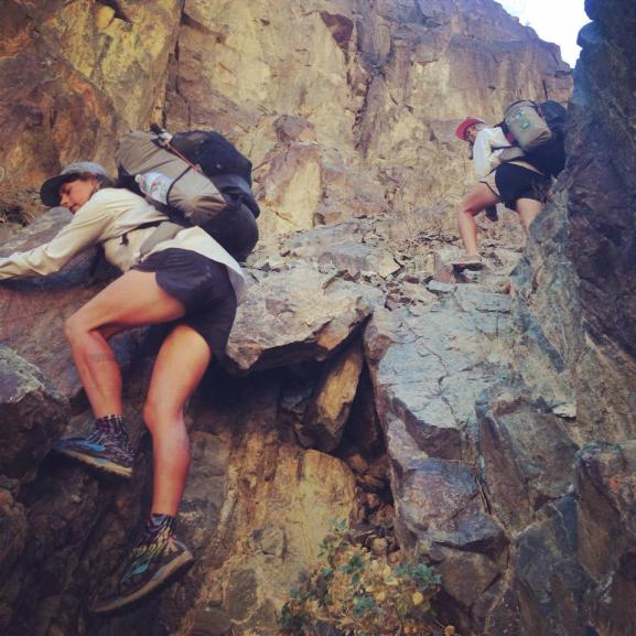 Rock climbing, basically.