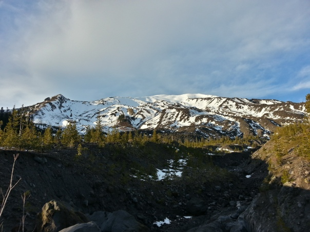 Mount Saint Helens as seen from the Worm Flows route