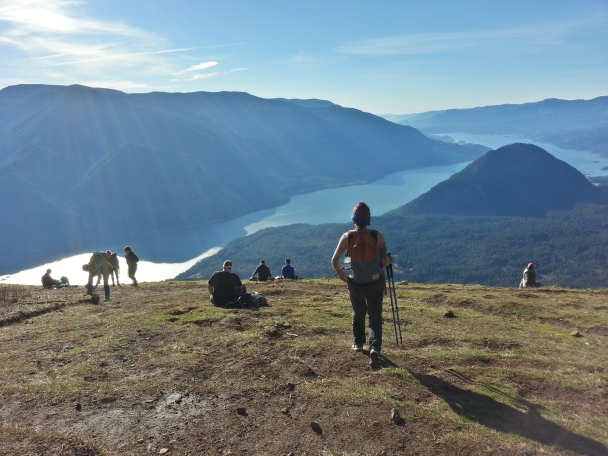 The next day we hiked up Dog Mountain in the Columbia River Gorge. So warm. So peaceful.