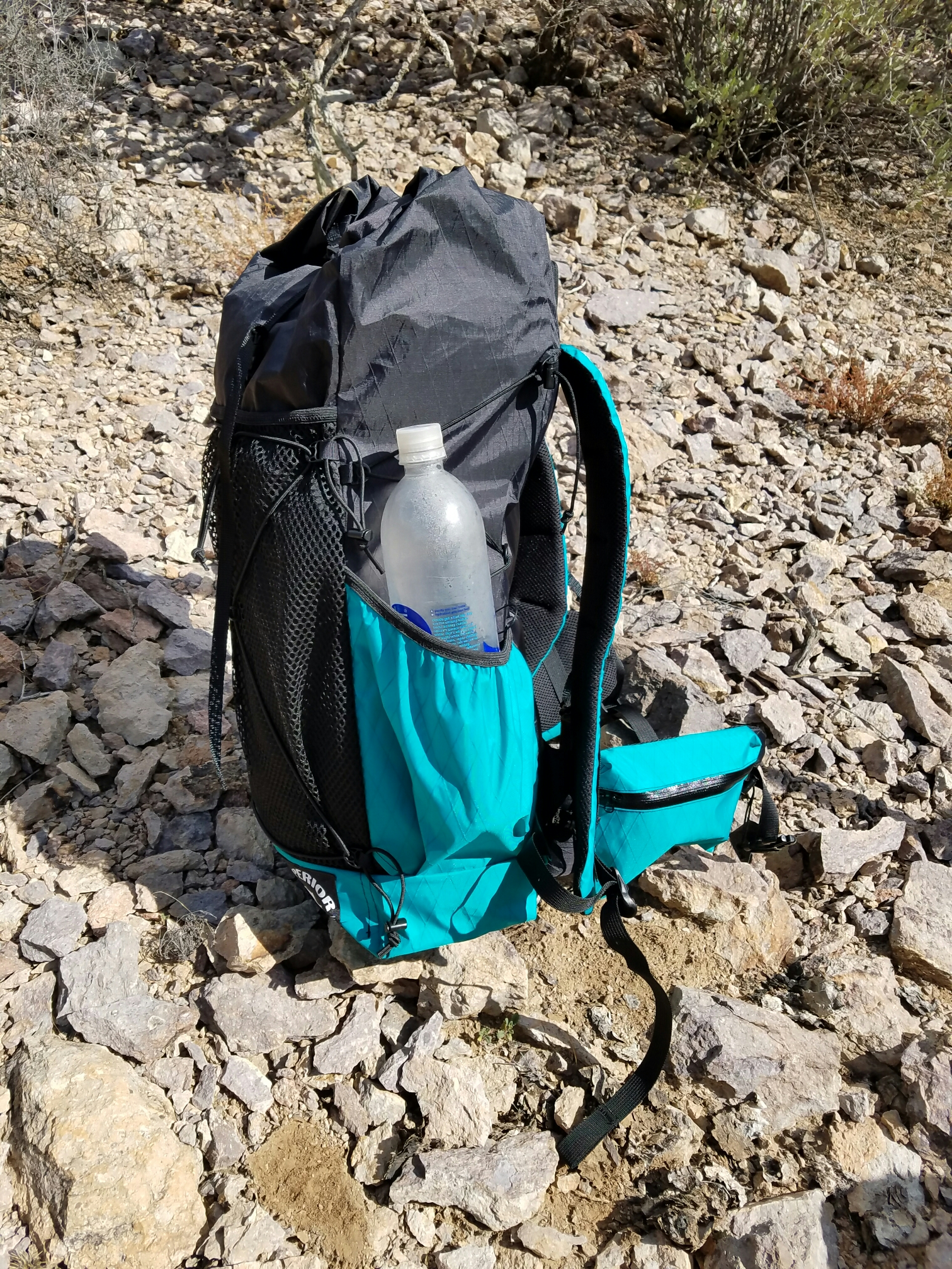 The Superior Wilderness Designs 35 liter pack (it s actually more than 35  liters when you include the outside mesh pocket a41d3f2d7f85