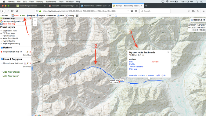 From an idea to paper maps and a gps track: how to make a cross
