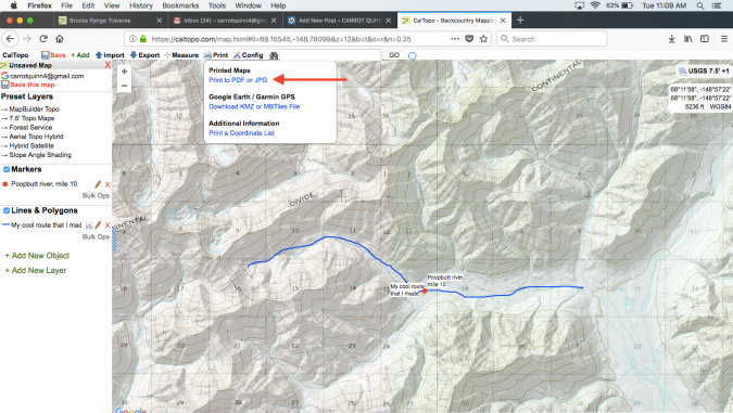 From an idea to paper maps and a gps track: how to make a